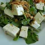 クレソンと豆腐のマスタードサラダ
