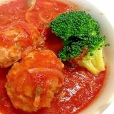トマトソースでじっくり煮込んだ☆美味しいハンバーグ