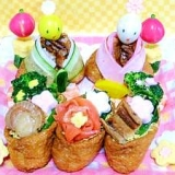 おひなさまプレート2008☆いなり寿司