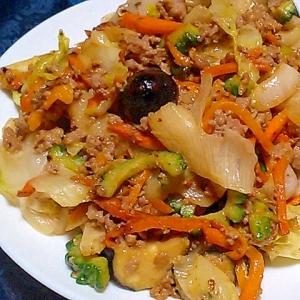 残り野菜だけど、おいしい!節約!簡単!彩り味噌炒め