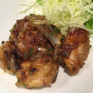 鶏肉と玉ねぎのネギポンマヨ