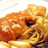 鶏と舞茸と長葱の照り煮