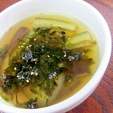 ナスの韓国風スープ