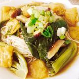 素麺in青梗菜と椎茸のカレースープ