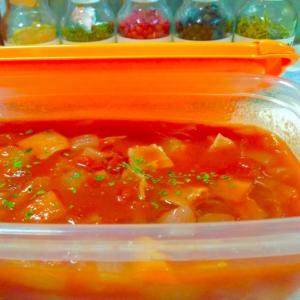 作り置きに♪レンジで簡単トマトスープ
