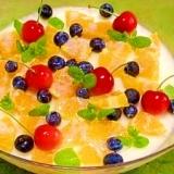 フルーツ練乳☆ミルクゼリー