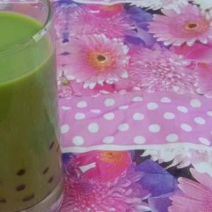 もちもちで可愛い☆タピオカ抹茶ミルク