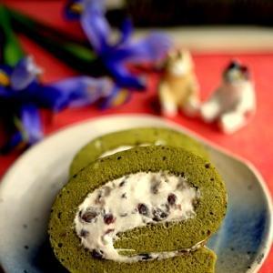 米粉ときび糖で作る☆しっとり抹茶のロールケーキ