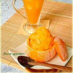 ☆★蜂蜜黒酢オレンジドリンク&シャーベット♪★☆