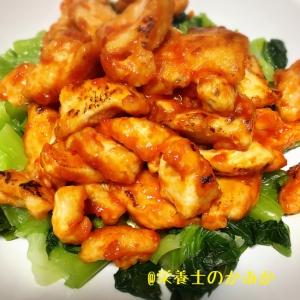 お弁当にも☆やわらか〜☆鶏むね肉のピリ辛炒め
