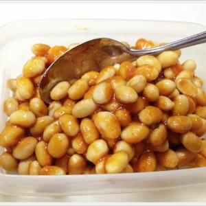 大豆のホットケチャップ煮