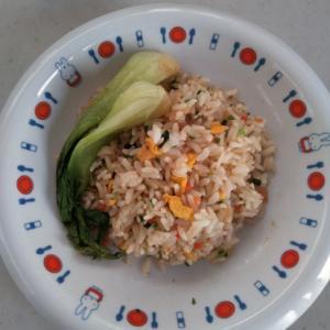 チンゲン菜のチャーハン