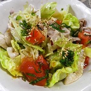 レタストマト豚肉大葉サラダ