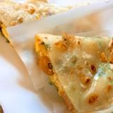 台湾風クレープ蛋餅(ウインナーチーズ)