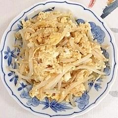 もやしと絹ごし豆腐の卵とじ