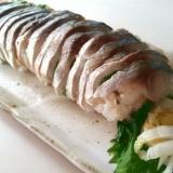 簡単! あぶりシメサバ de 棒寿司