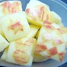 キャラ弁に!飾りりんご