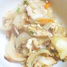 お味噌汁の残り物で簡単卵とじ(^^)☆