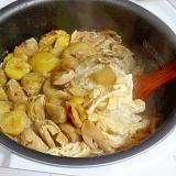炊飯器で簡単! 「栗と松茸のおこわ」