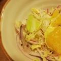 キャベツと紫玉ねぎのはっさくあえサラダ