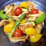 鶏と夏野菜の黒酢あんかけ