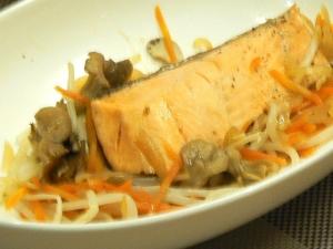 フライパンひとつで★鮭のポン酢蒸し