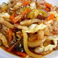 豚肉とナスと色々野菜の中華風炒め