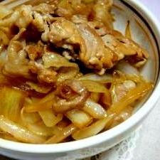 めんつゆで豚丼 560kcal