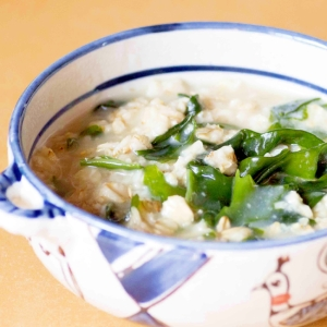 オートミール de わかめスープ粥