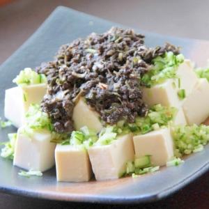 さっぱりだけどパンチもあります『黒ごま坦々豆腐』