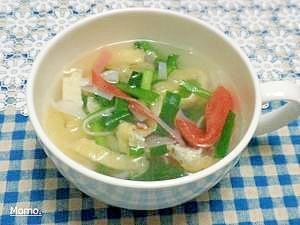 にらと油揚げの中華スープ