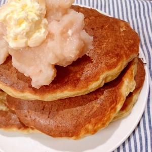 白餡バターのおからパウダーいりパンケーキ