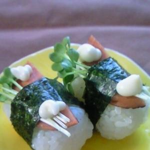 なぜか、お寿司の様に感じるスパム風おにぎり