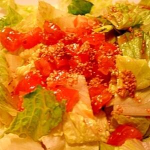 ごまたっぷり☆トマトとレタスの中華風サラダ