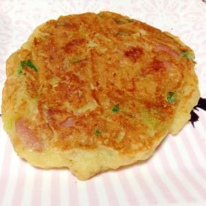 ウインナーと野菜の大豆粉パンケーキ♡