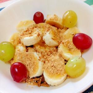 シナモン香る☆バナナ葡萄オールブランヨーグルト♪