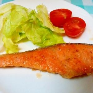 甘塩銀鮭を塩ダレでお手軽洋食に♪