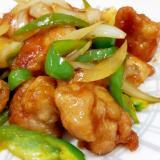 簡単!(^^)鶏もも肉とピーマンのピリ辛中華炒め♪
