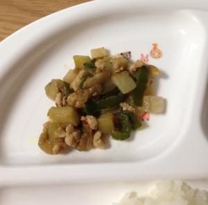 離乳食完了期♪野菜と鶏ひき肉の味噌炒め☆