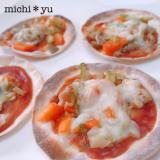 野菜炒めリメイク 簡単!餃子の皮で野菜ピザ