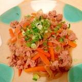 挽肉と糸こんにゃくの炒め物