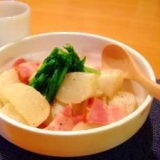 かぶとベーコンの簡単コンソメ煮