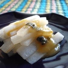 大根炒めの酢味噌あえ♪(インスタントの味噌で楽々)
