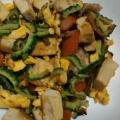 高野豆腐の簡単ゴーヤチャンプル