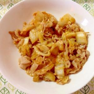 豚肉と白菜の卵とじ♪(o^^o)