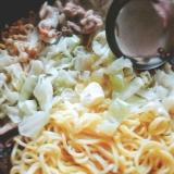 味噌バター煮込みラーメン鍋