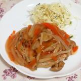 簡単ヘルシー!たっぷり野菜のあんかけ豆腐ハンバーグ