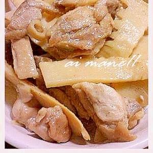 タケノコと鶏のガーリックソテー