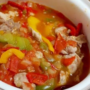 スペインの伝統料理・ピペラード風トマトシチュー♪