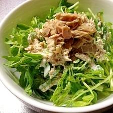 ツナドレッシングのサラダ
